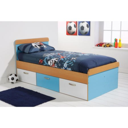Mountrose Athena Boys Single Bed Frame In Blue And White Furniture123