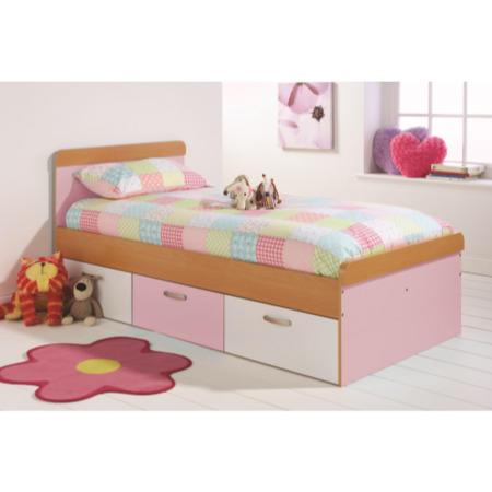 Mountrose Athena Girls Single Bed Frame In Pink And White Furniture123