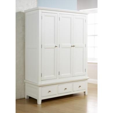 Mountrose venice painted white 3 door wardrobe furniture123 for Furniture 123 wardrobes