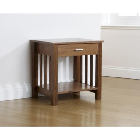Mountrose ashford solid wood 1 drawer side table with for Furniture 123 code