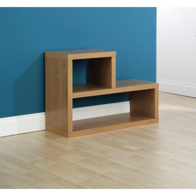 Mountrose Chicago L Shaped Side Table in Oak