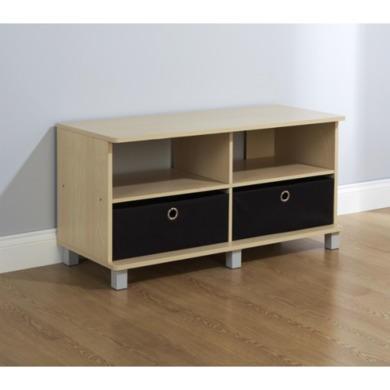Mountrose Jorvik Tv Unit In Black And Beech Furniture123
