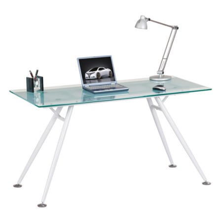 Alphason Designs Springfield Glass Computer Desk