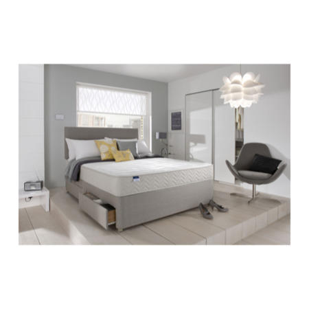 Silentnight Seoul Miracoil Memory Platform Top Divan And Mattress Single With No Storage