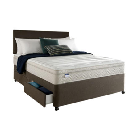 Silentnight Oslo Miracoil Memory Sprung Edge Divan And Mattress Single With No Storage