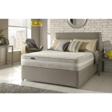 Silentnight moscow 1200 pocket memory sprung edge divan for Pocket sprung single divan beds