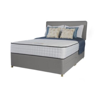 Silentnight Latina 1000 Pocket Tufted Sprung Edge Divan And Mattress In Grey Single With 2 Drawers