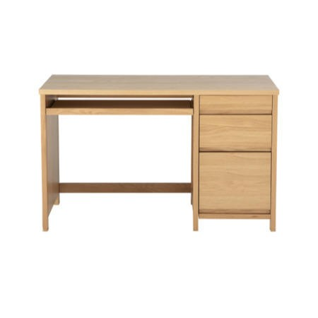 Alphason Designs Hunter Desk with Drawers in Oak