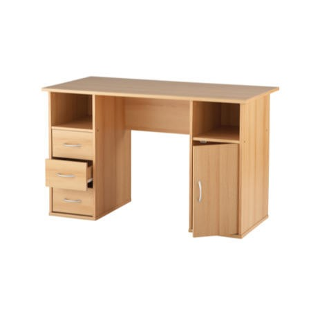 Alphason Designs Maryland Workstation with Drawers in Beech