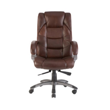 Alphason Designs Northland Brown Leather Faced Executive Chair