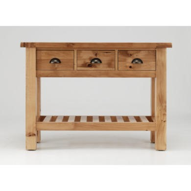 Willis Gambier Originals Normandy Solid Oak 3 Drawer Console Table