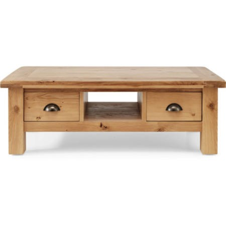 Willis Gambier Originals Normandy Solid Oak Coffee Table With Drawers Furniture123