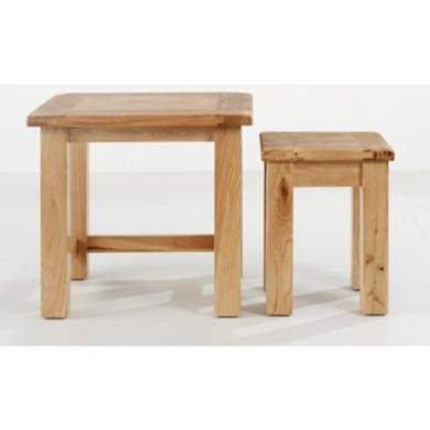 Willis Gambier Originals Normandy Solid Oak Nest of 2 Tables