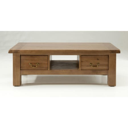 Willis Gambier Originals Bretagne Solid Oak Coffee Table With Drawers Furniture123