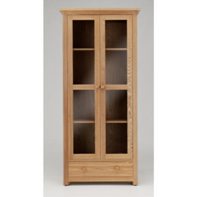Willis Gambier Originals Portland Solid Ash 2 Door Display Cabinet