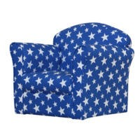 Kidsaw Mini Childrens Armchair - Blue With Stars