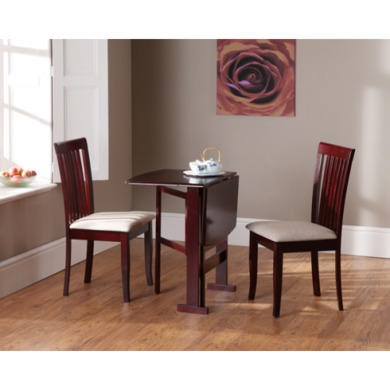 Wilkinson Furniture Columbia Solid Wood Dining Set in Mahogany