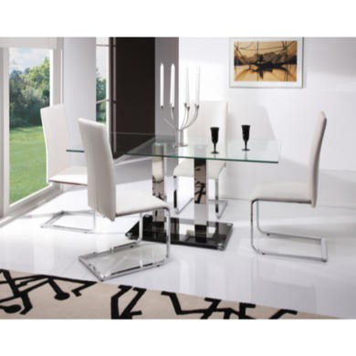 Wilkinson Furniture Glaze Glass Large Dining Table