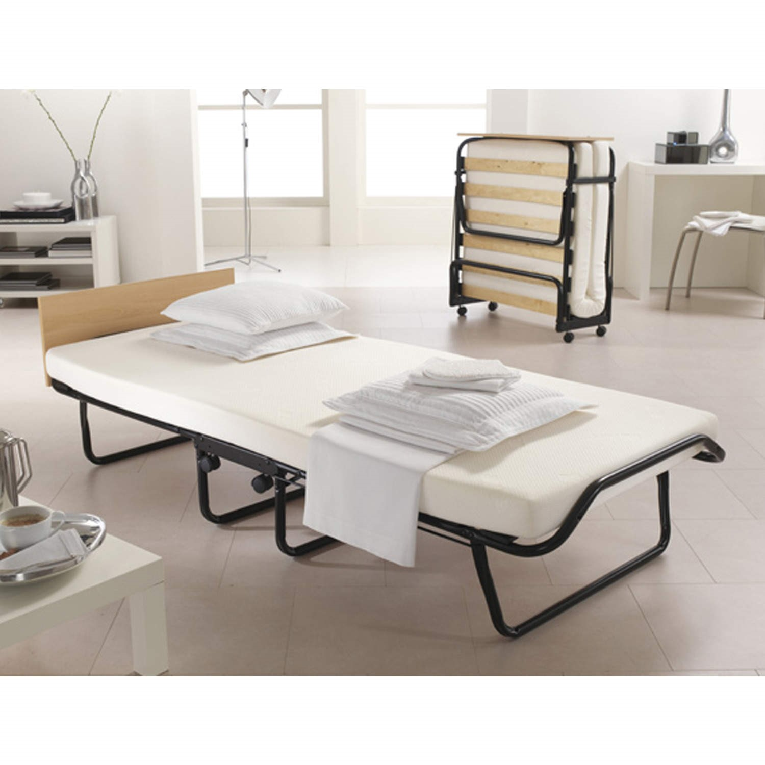 - Jay-Be Impression Memory Foam Folding Single Guest Bed With Cover  Furniture123