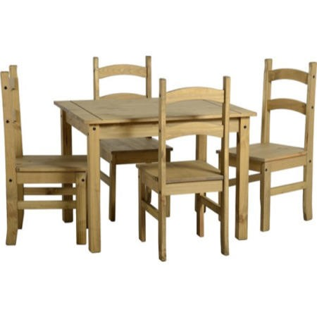 Seconique Mexican Pine Dining Set Distressed Pine Dining Table 4