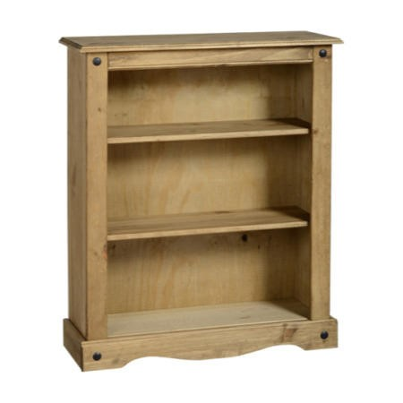 Seconique Original Corona Pine Low Bookcase