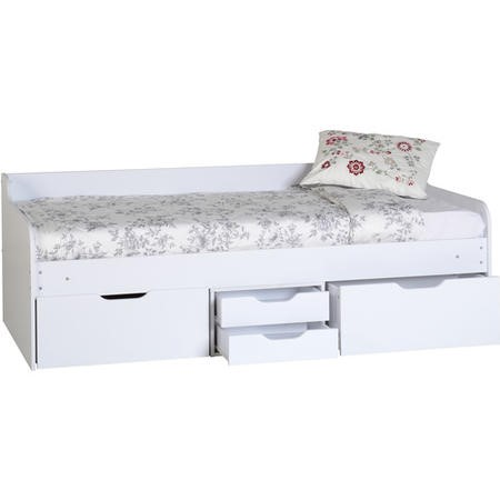Seconique Dante Day Bed with Storage in White