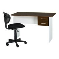 Seconique Jenny 2 Drawer Study Desk in Wenge and White