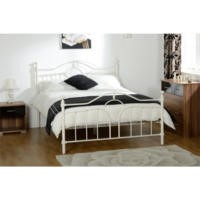 Seconique Keswick Bed Frame in Cream - double