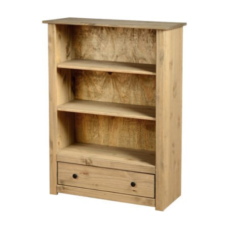 Seconique Panama Solid Pine 1 Drawer Bookcase