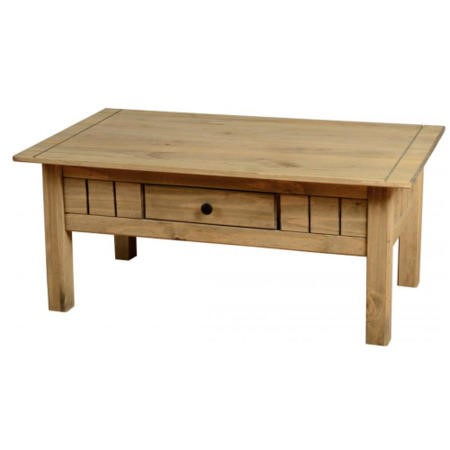 Seconique Panama Solid Pine 1 Drawer Coffee Table