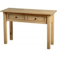 Seconique Panama Solid Pine 2 Drawer Console Table
