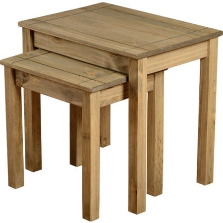 Seconique Panama Solid Pine Nest of 2 Tables