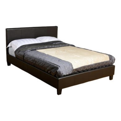 Seconique Prado Upholstered Small Double Bed in Brown
