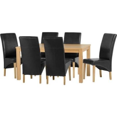 Seconique Belgravia Dining Set Natural Oak Dining Table