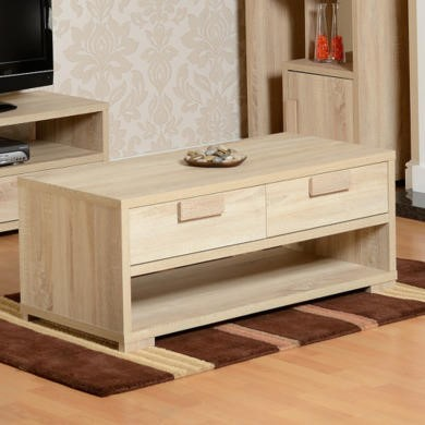 Seconique Cambourne 2 Drawer Coffee Table in Oak