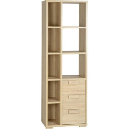 Seconique Cambourne 3 Drawer Display Unit in Oak