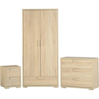 Seconique Cambourne Bedroom Set in Oak