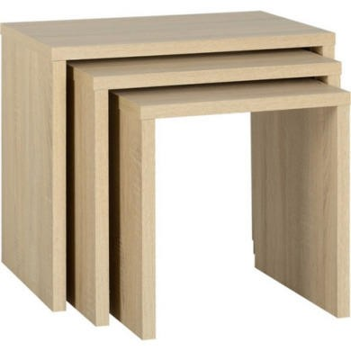 Seconique Cambourne Nest of Tables in Oak