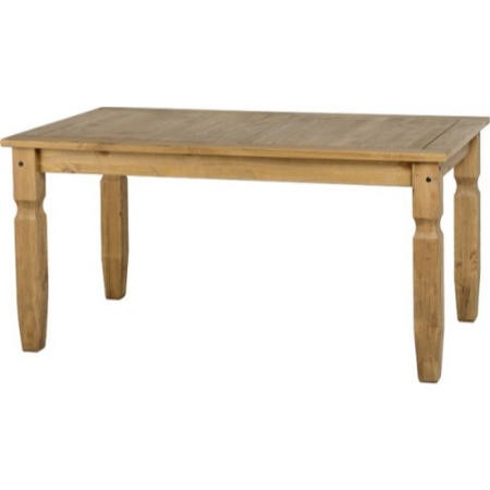 Seconique Corona Large Solid Pine Dining Table - Seats 6