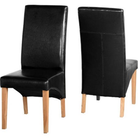 Seconique Pair of G1 Dining Chairs in Black