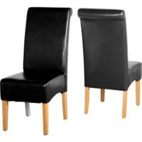 GRADE A2 - G10 Dining Chair in Black Pair