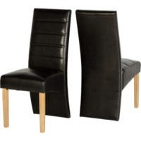 GRADE A1 - Seconique Pair of G5 Dining Chairs in Expresso Brown