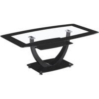 Seconique Henley Coffee Table in Glass and Black