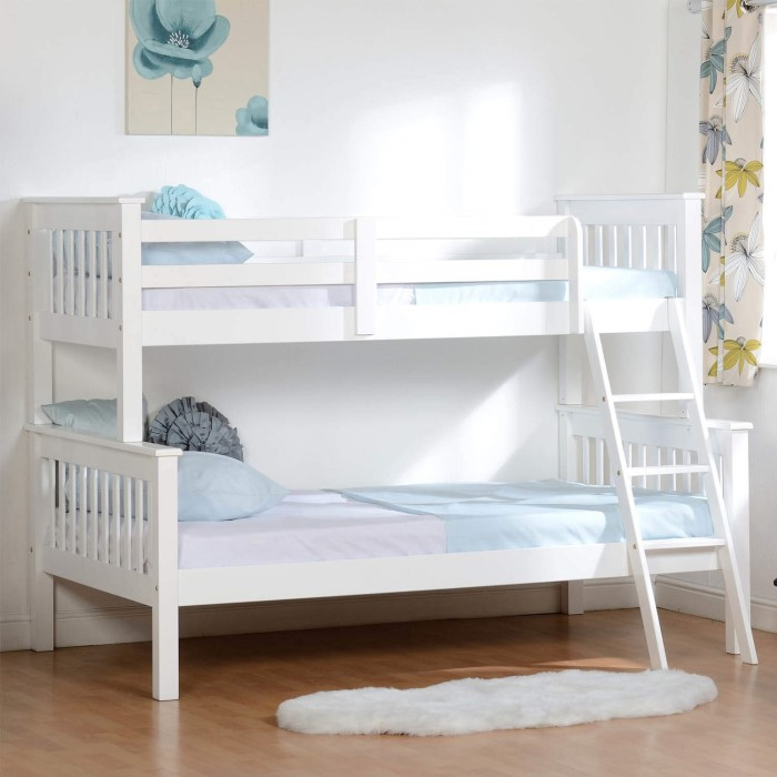 Seconique Neptune Triple Sleeper Bunk Bed In White Furniture123