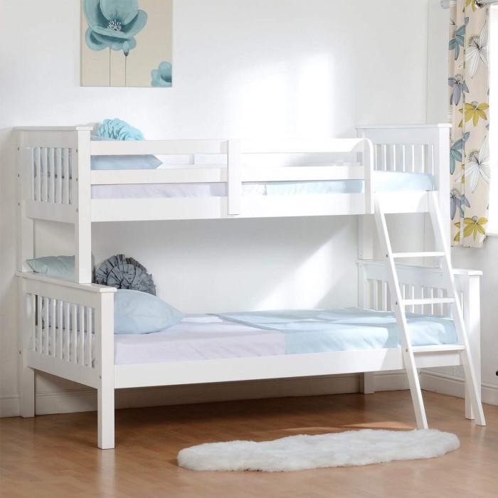 Seconique Neptune Triple Sleeper Bunk Bed In White