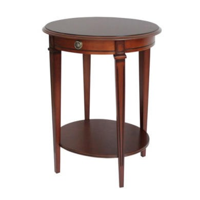 Origin Red Winchester Oval Side Table in Mahogany