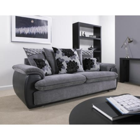 Lebus Grace Scatter Back 2 Seater Sofa In Matika Charcoal