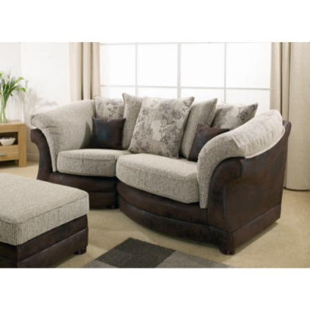 Lebus Maria Scatter Back 2 Seater Cosy Sofa In Woodland Beige And Bison  Brown