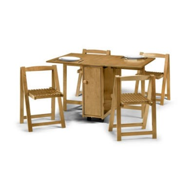 Julian Bowen Crantock Gateleg Dining Set in Light Oak