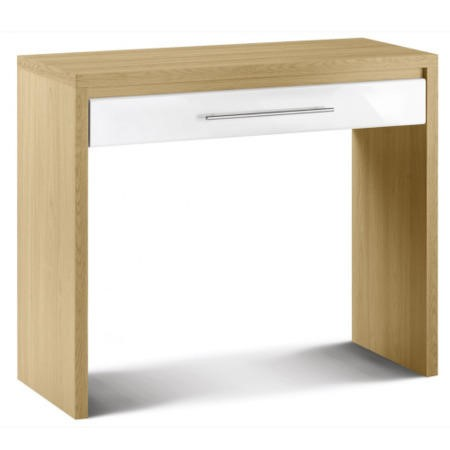 Julian bowen stockholm dressing table in light oak and for Dining table dressing
